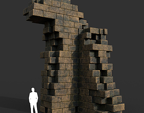Low poly Ancient Roman Ruin Construction R3 - 3D asset 1