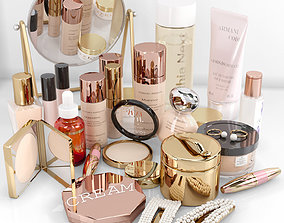 set of big cosmetics 3D