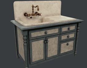 Rustic sink 3D asset
