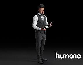 Humano Waiter black man 0620 3D
