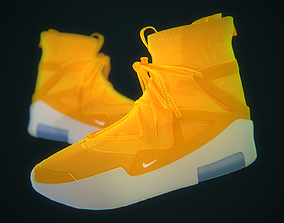 3D asset Nike Air Fear of God Amarillo