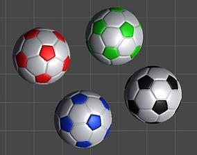 Classic Soccer Balls - 4 balls pack 3D model