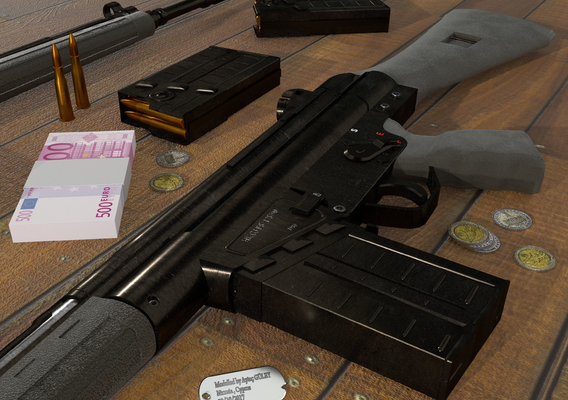Heckler & Koch G3 3D Model