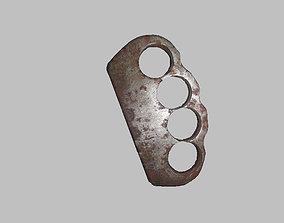 3D asset Realistic brass knuckles