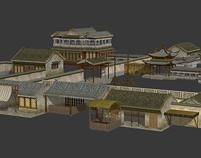 Ancient china architecture 3D model
