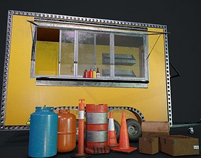 Food Truck and Props Minipack 3D asset