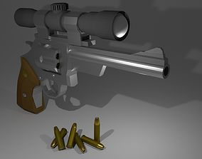 3D asset Low-poly Magnum with scope