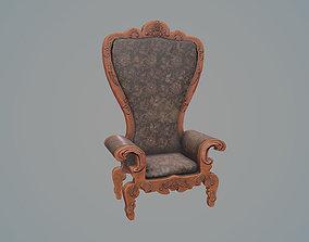 3D model VR / AR ready Rocco throne