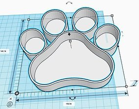 Paw Print Candy Bar Container