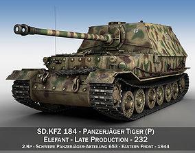 Elefant Tank destroyer - Tiger P - 232 3D model