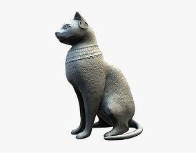 Egyptian cat statue 3D asset VR / AR ready