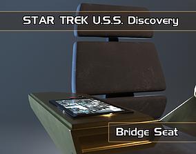 3D asset Bridge seat from USS Star Trek Discovery starship