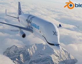 3D model game-ready Airbus Beluga XL