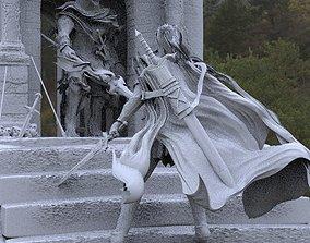 Warrior with epic sword 3D