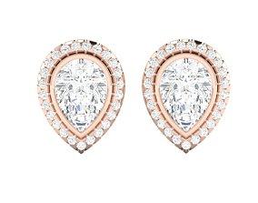 wedding jewellery Women earrings 3dm render detail