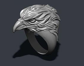 rings 3D print model Eagle ring