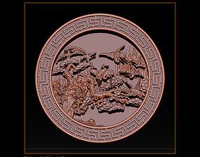 3D printable model Mural birds carving file stl STL 4