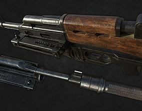 Ak47 gun 3D model realtime