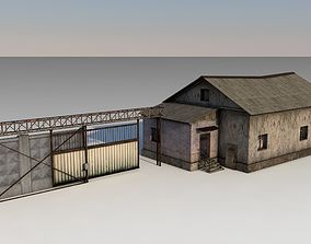 3D model Old Soviet checkpoint