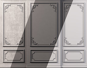 3D model game-ready Wall Molding