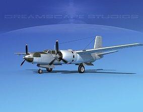Douglas A-26C Invader Bare Metal 3D model