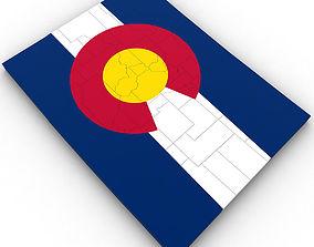 Colorado Political Map 3D
