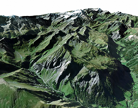 rock Mountain landscape 3D model
