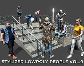 Stylized Lowpoly People Casual Pack Volume 3D model 1