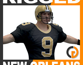 NFL Player New Orleans Saints - Rigged 3D