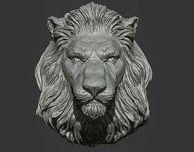 download Lion Head Pendant 2 3d print model