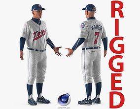 Baseball Player Rigged Twins 2 for Cinema 4D 3D