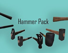3D asset Low-poly hammer pack