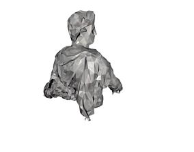 Cesar Low Poly Statue Sculpture 3D