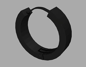 3D model Low-poly Hoop Earring
