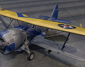 3D model Curtiss SBC-4 Helldiver