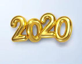 2020 New year decoration I PBR Model PBR