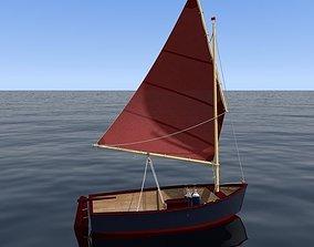 sailing dinghy 3D