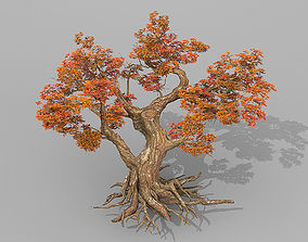 red tree animation 3D model