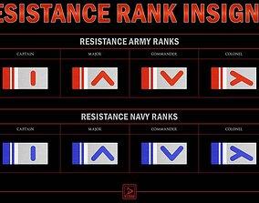 Star Wars Resistance Rank insignias 3D print model