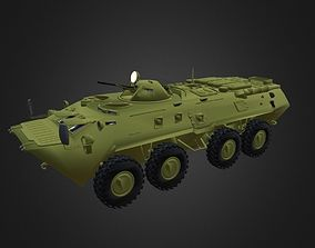 btr low-poly BTR-80 Game ready 3d model