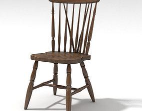 3D American wooden chair