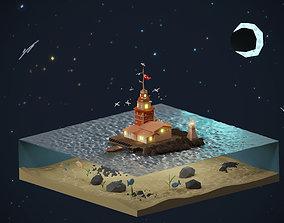 Maiden s Tower 3D asset