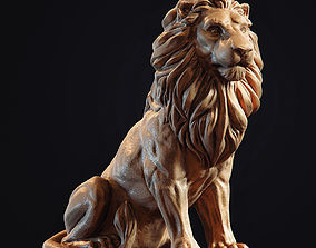 cat Lion Sculpture 3d print model