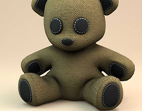 3D Little teddy bear child