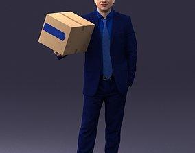 Man with box 0627 3D Print Ready