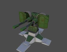 Gatling Gun 3D asset VR / AR ready