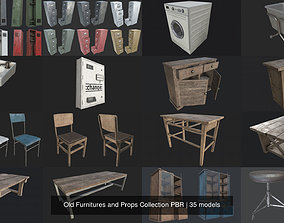 Old Furnitures and Props Collection PBR 3D