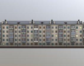 3D model Khrushchyovka MidPoly