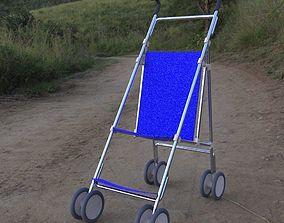 Stroller 1 in 3ds obj and fbx formats