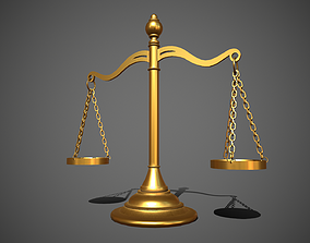 3D model game-ready Scales of Justice